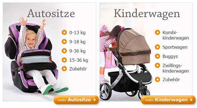 Autositze &#038; Kinderwagen