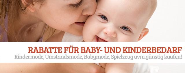 Rabatte für Kindermode und Baby Online Shops