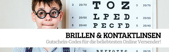 Gutschein-Codes für Brillen & Kontaktlinsen