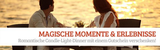 Candl-Light-Dinner Geschenkgutschein