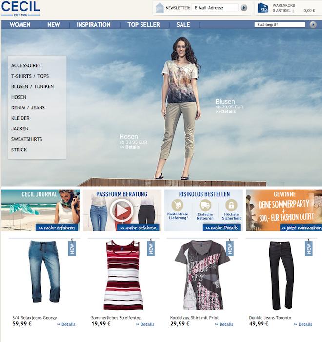 Cecil Online-Shop