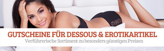 Gutscheine für Dessous und Erotikartikel