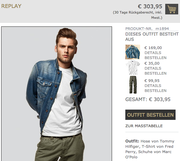 komplette Outfits bei Just4Men