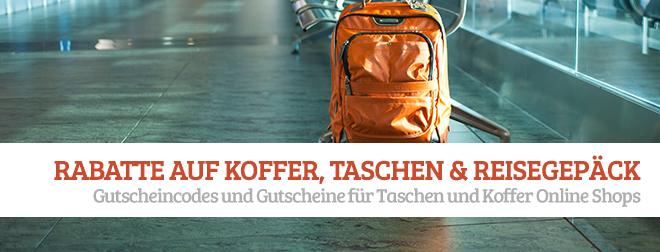 Rabatte auf Koffer und Taschen