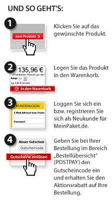 DHL Meinpaket.de Gutschein-Anleitung