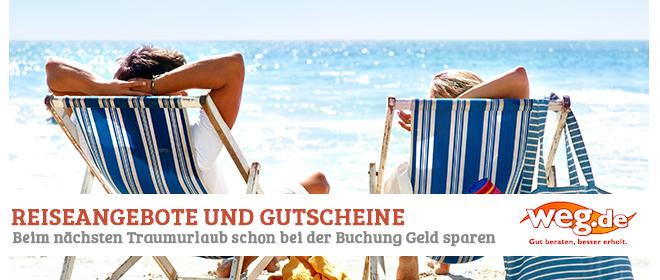 Reiseangebote und Gutscheine bei Weg.de