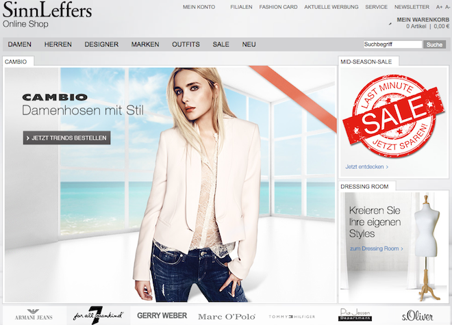 Sinn Leffers Online-Shop