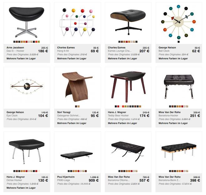Hochwertige Designermöbel-Replikate