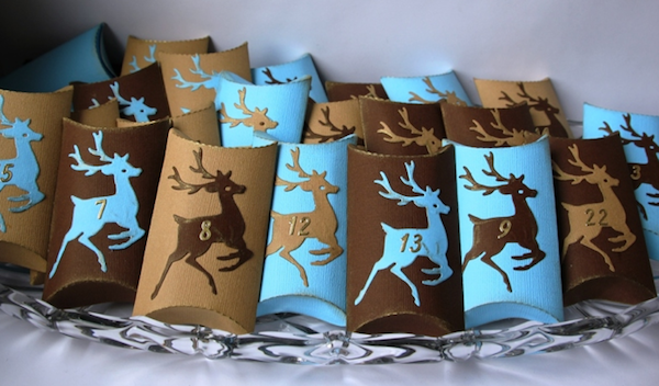 Adventskalender, 24 Pillowboxen, Hirsch